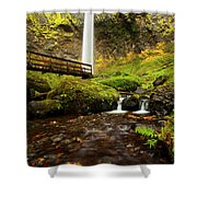 Elowah Perspective Shower Curtain by Mike  Dawson