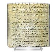 Emancipation Proc., P. 1 Shower Curtain by Granger