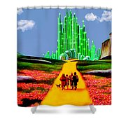 EMERALD CITY Shower Curtain by Tom Zukauskas