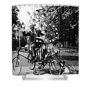 Emett: Lunacycle, 1970 Shower Curtain by Granger