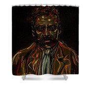 Emiliano Zapata Shower Curtain by Americo Salazar