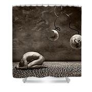 Emptiness Shower Curtain by Jacky Gerritsen