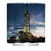 End Of The Hitch Shower Curtain by Jonas Wingfield