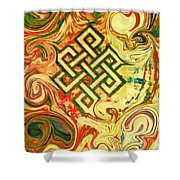 Endless Knot Two Shower Curtain by Kevin J Cooper Artwork