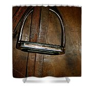 English Leather Shower Curtain by Susan Herber