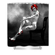 Engrossing Mood Shower Curtain by Alexander Butler
