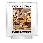 Enlist In The Air Service Shower Curtain by War Is Hell Store