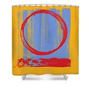 Enso Shower Curtain by Julie Niemela