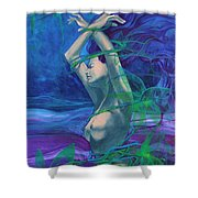 Entangled In Your Love... Shower Curtain by Dorina  Costras
