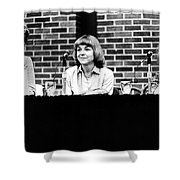 Era Debate, 1978 Shower Curtain by Granger