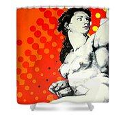 Eva Shower Curtain by Jean Pierre Rousselet