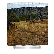 Ewing-snell Ranch 2 Shower Curtain by Larry Ricker