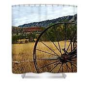 Ewing-snell Ranch 3 Shower Curtain by Larry Ricker