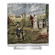 EXECUTION OF JAN HUS, 1415 Shower Curtain by Granger