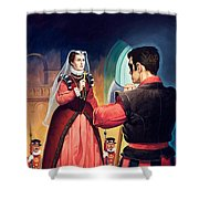 Execution Of Mary Queen Of Scots Shower Curtain by English School