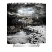 Eye Of The Storm Shower Curtain by Mary Hood
