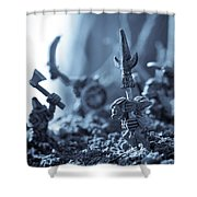Facing The Enemy Shower Curtain by Marc Garrido