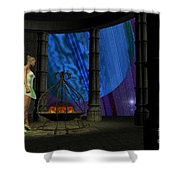 Fairy Haven Shower Curtain by Corey Ford