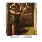 Faithful Unto Death Shower Curtain by Sir Edward John Poynter