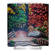 Fall In Quebec Canada Shower Curtain by Karin  Dawn Kelshall- Best