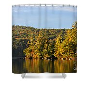 Fall Reflection Shower Curtain by Michael Mooney