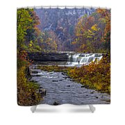 Falls Fishing Shower Curtain by Mark Papke