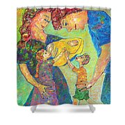 Family Matters Shower Curtain by Naomi Gerrard