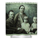 Family Portrait Shower Curtain by James W Johnson