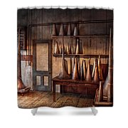 Fantasy - Wizard Hat Prototype Lab Shower Curtain by Mike Savad
