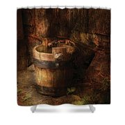 Farm - Pail - An old pail Shower Curtain by Mike Savad