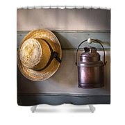Farm - Tool - The Coat Rack Shower Curtain by Mike Savad