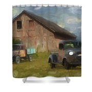 Farm Scene Shower Curtain by Jack Zulli