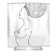 Fashion drawing Shower Curtain by Frank Tschakert
