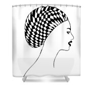 Fashion illustration Shower Curtain by Frank Tschakert