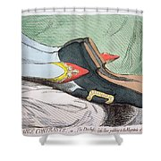 Fashionable Contrasts Shower Curtain by James Gillray