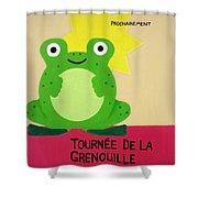 Fat Frog Best Shower Curtain by Oliver Johnston