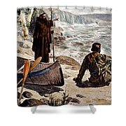 Father Louis Hennepin Shower Curtain by Granger