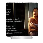Fear Of Shadows Shower Curtain by Clayton Bruster