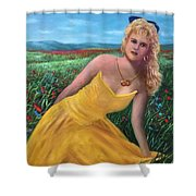 Felicia Shower Curtain by Randy Burns