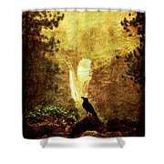 Felt Mountain Shower Curtain by Andrew Paranavitana