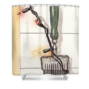 Festive Antique Herb Cutter Shower Curtain by Ken Powers
