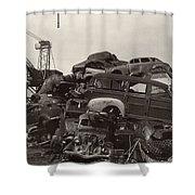 Field of Woody Dream Cars Shower Curtain by Jack Pumphrey