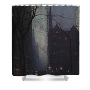 Fifth Avenue At Twilight Shower Curtain by Lowell Birge Harrison