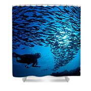 Fiji, Galapagos Islands Shower Curtain by Dave Fleetham - Printscapes