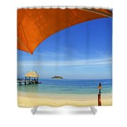 Fiji, Malolo Island Shower Curtain by Himani - Printscapes