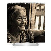 Filipino Lola - Image 14 Sepia Shower Curtain by James BO  Insogna