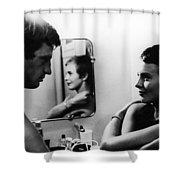FILM: BREATHLESS, 1960 Shower Curtain by Granger