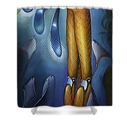 Finfaerian Odyssey Shower Curtain by Patrick Anthony Pierson
