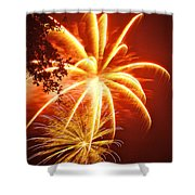 Fire In The Trees Shower Curtain by Phill Doherty