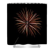 Fire Works Shower Curtain by Gary Langley